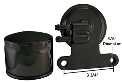 OIL FILTER ADAPTER KIT CUSTOM APPLICATIONS BLACK, INCLUDES FILTER