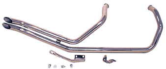 PAUGHCO CHROME UP SWEEP GOOSENECK DRAG PIPE HARLEY EVO SPORTSTER 1986/2003