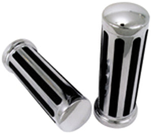 HANDLEBAR GRIPS,CHROME RAIL ANY MODEL W/EXTERIOR TH.CABLE 5