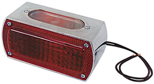 TAILLIGHT,CUSTOM BOX STYLE FOR ALL MODELS 12 VOLT DIE CAST CHROME PLATED