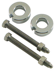 Axle Adjuster Kit, Chrome Plt Softail Models 2000/2007