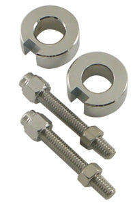 Axle Adjuster Kit, Chrome Plt Softail Models 1987/1999 Includes Cust Cap Screw Adj