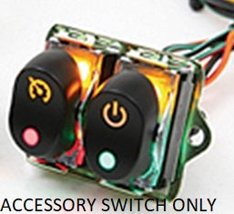 BLACK 1 PCS LED BACKLIT FAIRING ROCKER SWITCH KITS HARLEY FLHX 2006/07