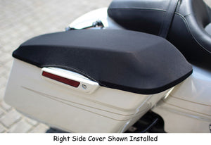 SADDLE BAG LID COVERS, FITS ALL HARD BAG HD 1993/L* STRETCH/STRAP INSTALL