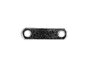 "EXHAUST STRAP, UNIVERSAL FLAT 2""CNTR TO CNTR, 5/16""BOLT HOLE CHROME PLATED #95005"