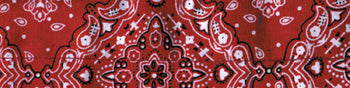COOLDANNA HEAD AND NECK TIE 100% COTTON, PAISLEY RED ZANHEADGEAR DC106