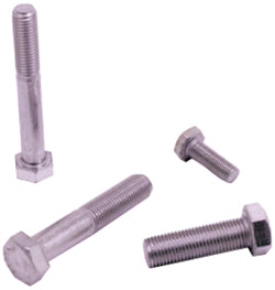 "HARDWARE HEX HEAD BOLT 1/4-28 X 3/4"" UNF CHROME STEEL #06590 REFILL"