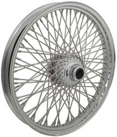 "CHROME 80 SPOKE 21"" FRONT WHEELS FXWG 1984/1985, FXST 1984/1999 & FXDWG 1993/1999"