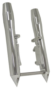 FR FORK LW LEGS,MISSILE STYLE FXST 84/99,FXWG 85/86,FXDWG 93 /99 SINGLE DISC 41MM CHROME