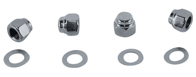 ROCKER SHAFT END NUT KIT CAP SH,IHD SPT ALL YEARS CHROMED RPLS HD 6001 6466W 7522 7875