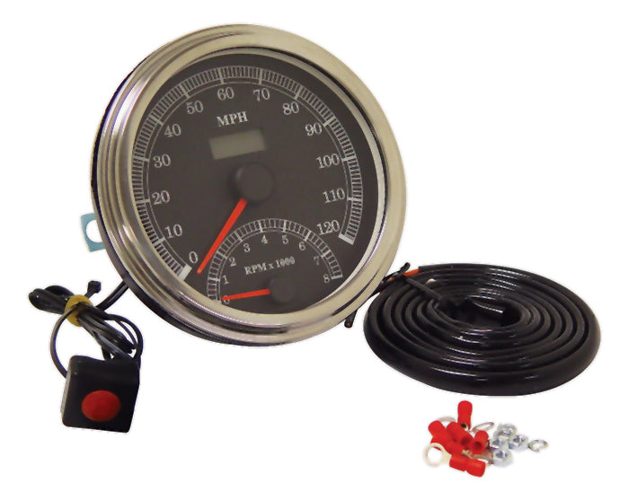 Speedometer W/Lcd Odometer Fits Cable Dr Models Thru 1995 W/Fat Bob Dash, Mph or Kph
