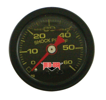 Oil Pressure Gauge 0-60 Psi, Black Face 1.5