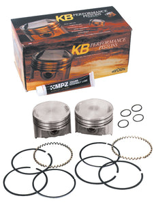 "PISTONS,KB PERF 9.6:1 +.005""OS BT EVO 80CI W/PINS,LOCKS,RINGS 3.498""STD BORE HI COMPRESSION"