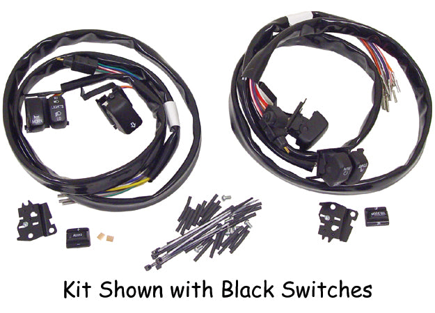 HANDLEBAR WIRE HARNESS W/ BLACK SWITCHES HARLEY DAVIDSON TOURING 2007/L   WITH RADIO & CRUISE CONTROL
