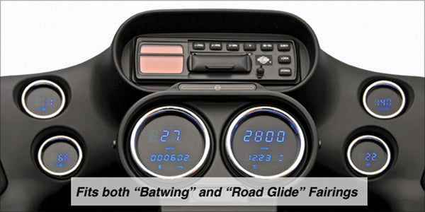 Digital Gauge Kit, 3006 Series Fits All Fairing Models 04/L* Complete Kit Blue Mcl-3006-Ot