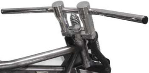 "V-Factor Chrome Smooth Top 4"" Risers 1"" Od Harley Wide Springer Forks"