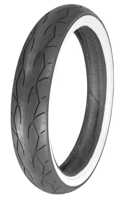 Vee Tire Front or Rear 130/70-18 Vrm-302 White Wall Vee Rubber W30203