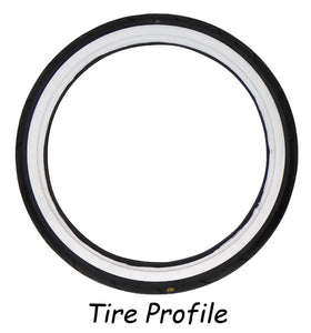 Tire, Front 120/70-21 Vrm-302 White Wall Vee Rubber W30201