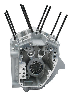 ENGINE CRANKCASE, S&S BT 99/06 TC88A EXCEPT 06 DYNA SILVER FINISH