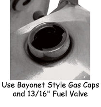 Load image into Gallery viewer, GAS TANK,FATBOB STYLE EARLY 3.5 GALLON W/BAYONET GAS CAP PRESSURE CHECK BEFORE PAINTING