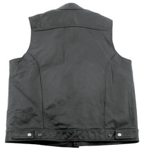 Load image into Gallery viewer, LEATHER CLUB STYLE VEST,XXL YKK ZIPPER & SNAP BUTTONS STAND UP COLLAR