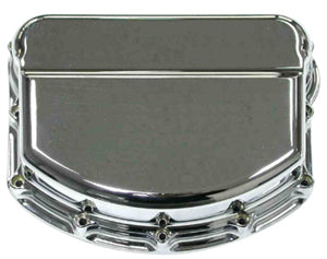 ROCKER ARM CVRS BILLET SMOOTH PANHEAD 1948/1965 CHROME PLT BILLET 6061-T6 ALUMINUM