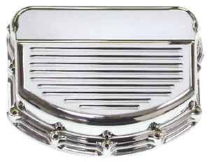 ROCKER ARM CVRS BILLET FINNED PANHEAD 1948/1965 CHROME PLT BILLET 6061-T6 ALUMINUM