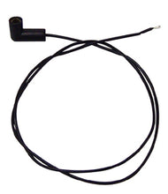 "Load image into Gallery viewer, ELECTRICAL TERMINAL W/WIRE FITS 3/16""THREADED MALE STUD 90 DEG PUSH ON 24""LG BLK WIRE"