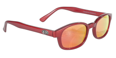 KD SUNGLASS FIRE RED FRAME/ RED MIRROR LENS PCSUN#20124