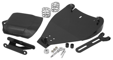 SOLO SEAT KIT FOR SOFTAIL BOLT ON KIT W/ BATTERY COVER STEEL HINGE, TORSION SPRINGS