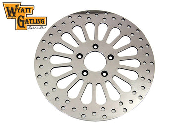 11.8  WYATT GATLING FRONT BRAKE DISC 18 SPOKE STYLE FLT 2008/UP
