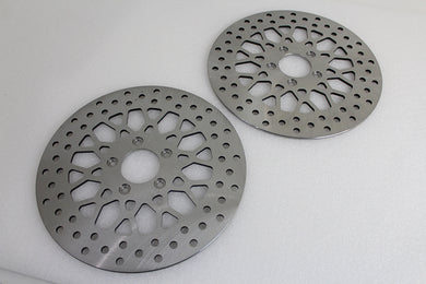 11.8  FRONT BRAKE DISC SET X-SPOKE STYLE FLT 2008/UP