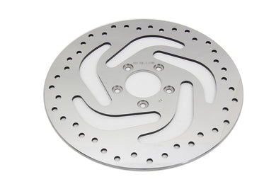 POLISHED FRONT BRAKE DISC FLT 2008/UP