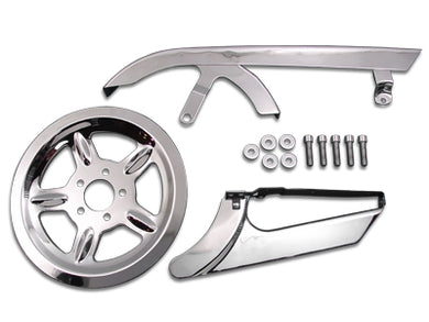 Chrome Belt Guard And Pulley Cover Kit XL 2004/2013
