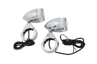 BULLET TURN SIGNAL SET WITH 49MM CLAMPS Custom 0/