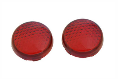 TURN SIGNAL LENS SET TORPEDO STYLE RED FXSTD 2000/2007
