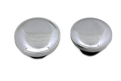Ratcheting Style Gas Cap Set Vented And Non-Vented Chrome FXST 1984/1995 FLST 1986/1995 FL 1983/1984 FX 1983/1984 FXR 1983/1994 FLT 1983/1995