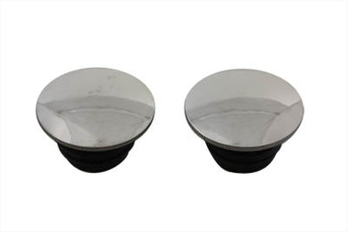 Polished Low Profile Gas Cap Set FL 1983/1984 FXST 1984/1995 FLST 1986/1995 FX 1983/1984 FXR 1983/1994 FLT 1983/1995