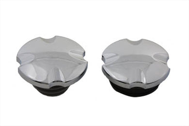 Maltese Cross Vented And Non-Vented Gas Cap Set FXDWG 2000/2017 FXST 2000/2017 FLST 2000/2017