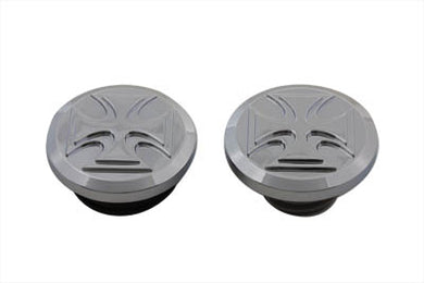 MALTESE STYLE VENTED AND NON-VENTED BILLET GAS CAP SET FXST 2000/2017 FLST 2000/2017 FXDWG 2000/2017