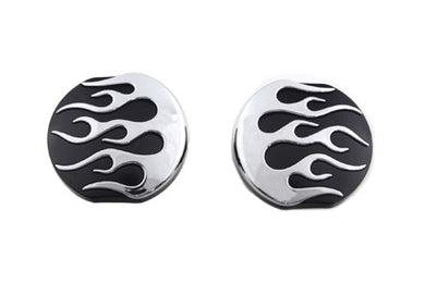 Black FLame Style Vented And Non-Vented Gas Cap Set FL 1983/1984 FXST 1984/1995 FLST 1986/1995 FX 1983/1984 FXR 1983/1994 FLT 1983/1995