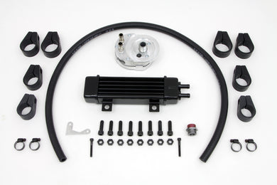 JAGG SLIM LINE OIL KIT COOLER WITH ADAPTER FXST 1984/2017 FXR 1982/1994 FXR 1982/1994 FXD 1991/2017 FLT 1984/2013