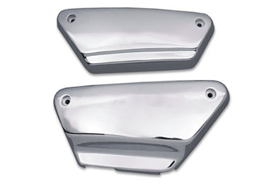 FRAME SIDE COVER SET SMOOTH CHROME STEEL FXR 1984/1994 FXRS 1984/1994