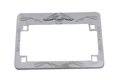 LICENSE PLATE FRAME CHROME EAGLE DESIGN Custom 0/