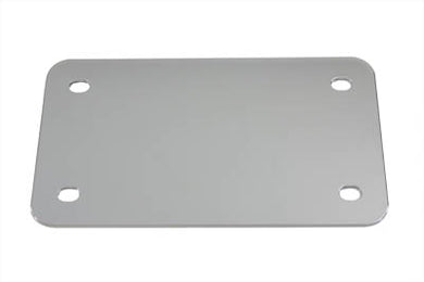 LICENSE PLATE FRAME BACKING PLATE CHROME SMOOTH STYLE Custom 0/