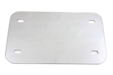LICENSE PLATE FRAME BACKING PLATE SMOOTH STYLE CHROME Custom 0/