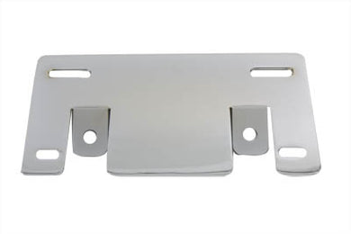LICENSE PLATE FRAME SUPPORT BRACKET SLANT STYLE CHROME FLT 1997/UP