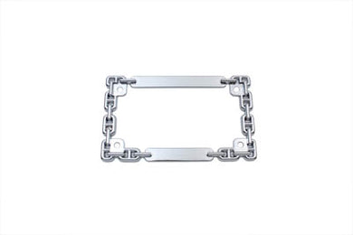 LICENSE PLATE FRAME CHAIN STYLE CHROME Custom 0/