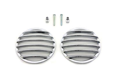 TURN SIGNAL LENS GRILLE SET CHROME FLT 1986/2009 FLST 1986/2009