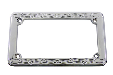 LICENSE PLATE FRAME FLAME STYLE Custom 0/